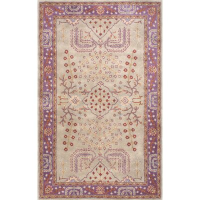 Grewal Hand-Tufted Purple/Beige Area Rug Rug Size: 86 x 116
