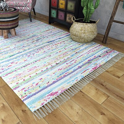 One-of-a-Kind Woodminster Hand-Woven White Area Rug Rug Size: Rectangle 23 x 5