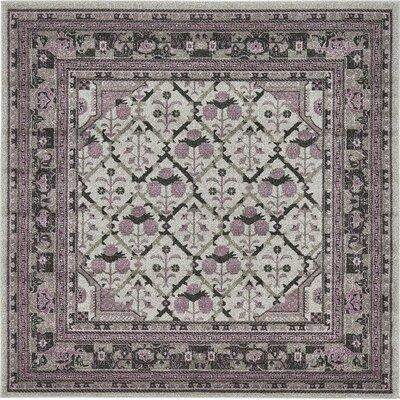 Fasano Gray Area Rug Rug Size: Square 6