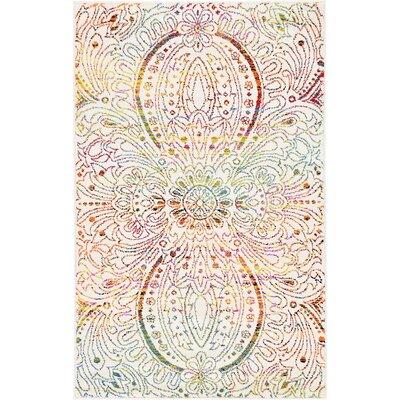Joshi Ivory Area Rug Rug Size: 33 x 53