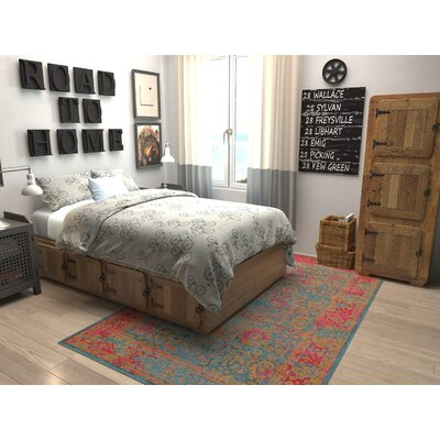 Enid Blue Area Rug Rug Size: Rectangle 106 x 165