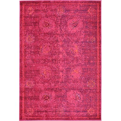 Iris Red Area Rug Rug Size: 4 x 6