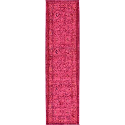 Iris Red Area Rug Rug Size: Runner 27 x 10