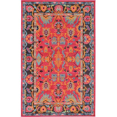 Nerbone Pink Area Rug Rug Size: 5 x 8