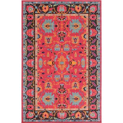 Nerbone Pink Area Rug Rug Size: 106 x 165