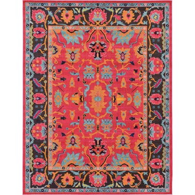 Nerbone Pink Area Rug Rug Size: Rectangle 5 x 8