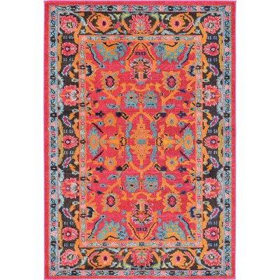 Nerbone Pink Area Rug Rug Size: 4 x 6