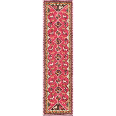 Rohini Pink Area Rug Rug Size: Runner 2'7