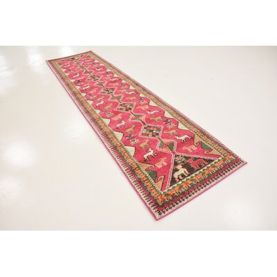 Phillips Pink Area Rug Rug Size: 4 x 6