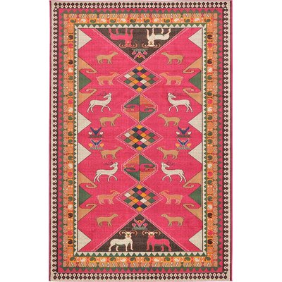 Rohini Pink Area Rug Rug Size: 106 x 165