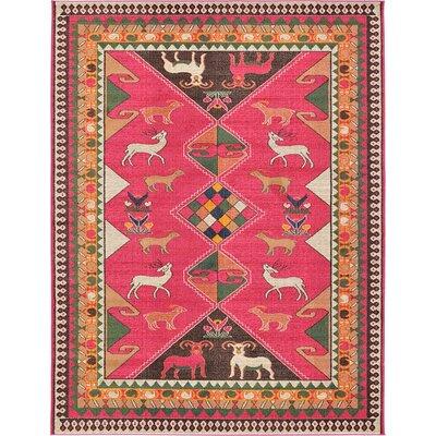 Rohini Pink Area Rug Rug Size: 9' x 12'