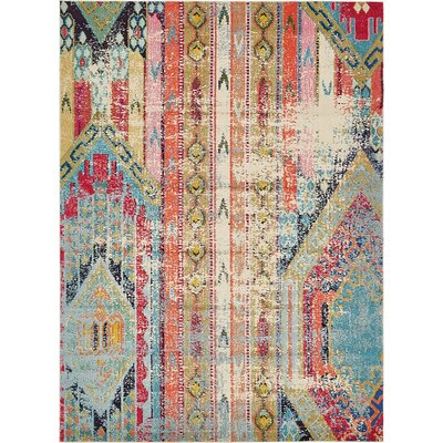 Newburyport Beige/Orange Area Rug Rug Size: Rectangle 8 x 11