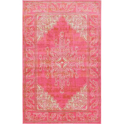 Cadencia Pink Area Rug Rug Size: Rectangle 5 x 8