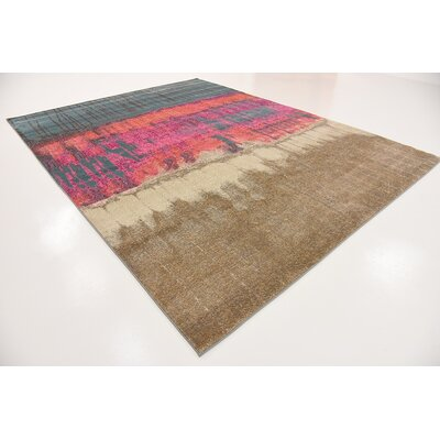 Coakley Traditional Pink Area Rug Rug Size: Square 8