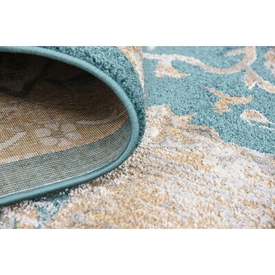 Sepe Teal Area Rug Rug Size: 10' x 13'