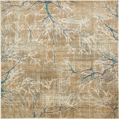 Sepe Light Brown Area Rug Rug Size: Square 8