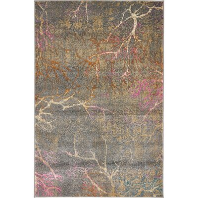 Sepe Gray Area Rug Rug Size: 4 x 6