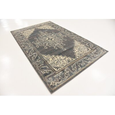 Cadencia Gray Area Rug Rug Size: Rectangle 7 x 10
