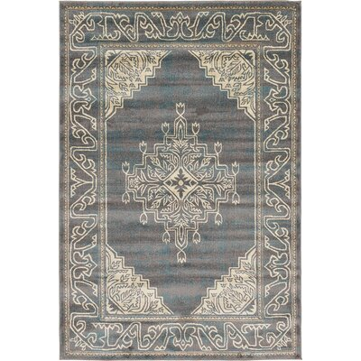 Sepe Gray Area Rug Rug Size: 6 x 9