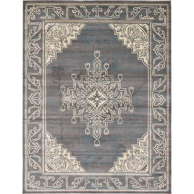 Sepe Gray Area Rug Rug Size: 9 x 12