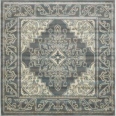 Cadencia Gray Area Rug Rug Size: Square 8