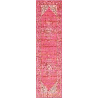 Stockholm Pink Area Rug Rug Size: Runner 27 x 10