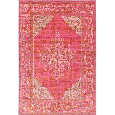 Cadencia Pink Area Rug Rug Size: 6 x 9