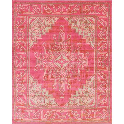 Cadencia Pink Area Rug Rug Size: 8 x 10