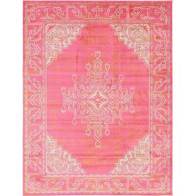 Cadencia Pink Area Rug Rug Size: 9 x 12