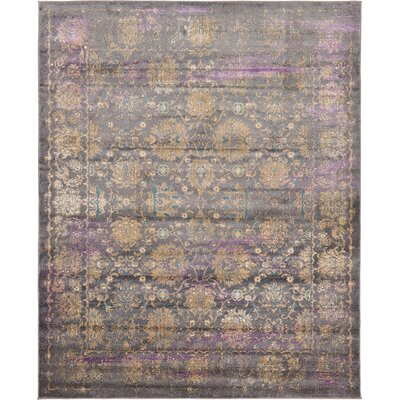 Sepe Gray Area Rug Rug Size: 8 x 10