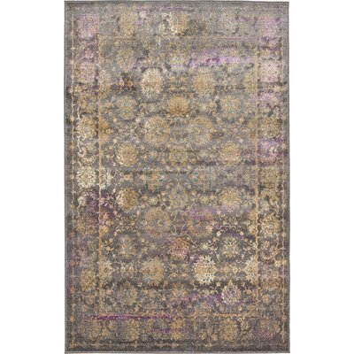 Sepe Gray Area Rug Rug Size: 2 x 3