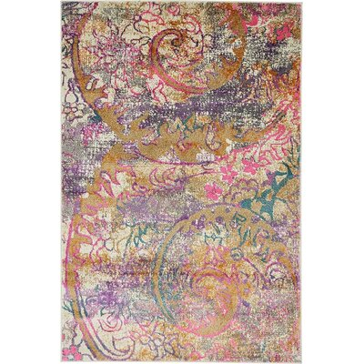 Charlena Abstract Area Rug Rug Size: 4 x 6