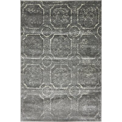 Sepe Dark Gray Area Rug Rug Size: 4 x 6