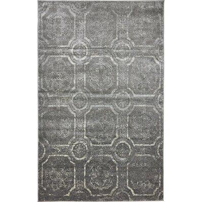 Sepe Dark Gray Area Rug Rug Size: 5 x 8