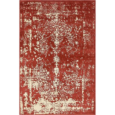 Vikram Red Area Rug Rug Size: 4' x 6'