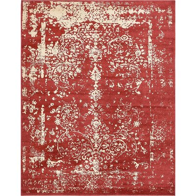 Vikram Red Area Rug Rug Size: 8' x 10'