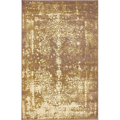 Vikram Brown Area Rug Rug Size: 5 x 8