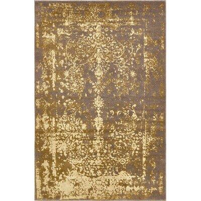 Vikram Brown Area Rug Rug Size: 4 x 6