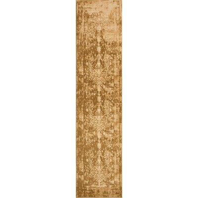 Vikram Gold Area Rug Rug Size: Runner 3 x 13