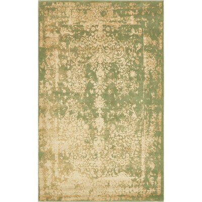 Vikram Light Green Area Rug Rug Size: 5' x 8'