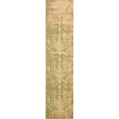 Vikram Light Green Area Rug Rug Size: Runner 3' x 13'