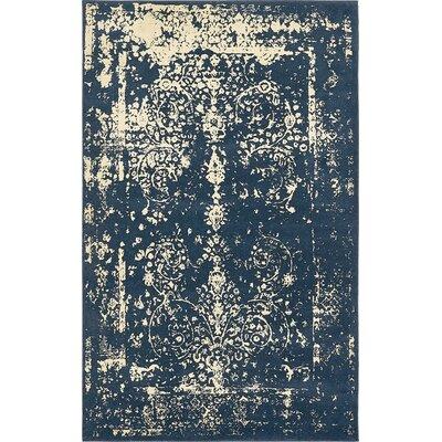 Vikram Navy Blue Area Rug Rug Size: 5' x 8'