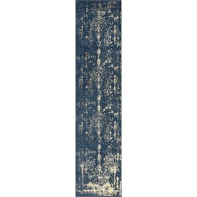 Vikram Navy Blue Area Rug Rug Size: Runner 3 x 13