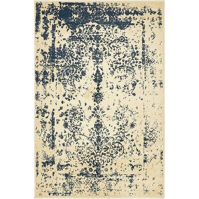 Vikram Beige Area Rug Rug Size: 4 x 6
