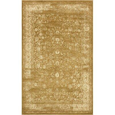 Vikram Gold Area Rug Rug Size: 5 x 8