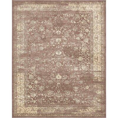 Vikram Brown Area Rug Rug Size: 8 x 10