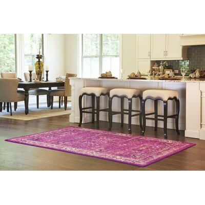 Neuilly Lilac/Violet Area Rug Rug Size: Rectangle 2 x 6