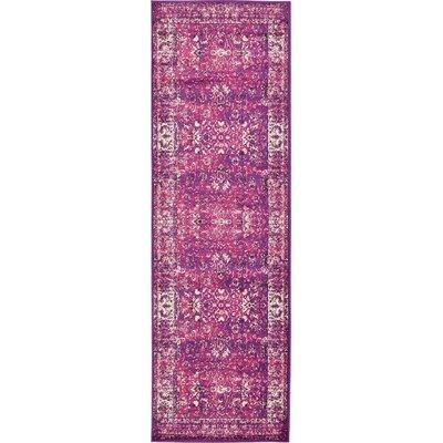 Yareli Lilac/Violet Area Rug Rug Size: Runner 3 x 910