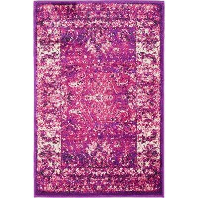 Yareli Lilac/Violet Area Rug Rug Size: 2 x 3