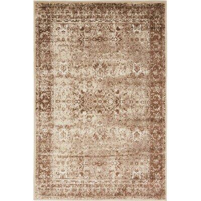 Yareli Brown/Cream Area Rug Rug Size: 4 x 6